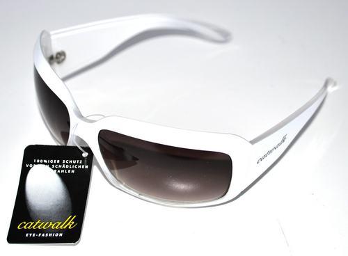 Catwalk Sonnenbrille Damen 100 Uv Schutz Brille Weiss