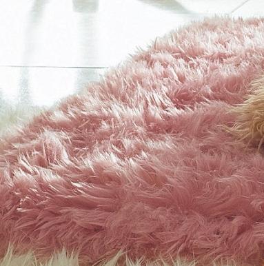 kuschel flor flokati teppich br cke rosa 140x200 neu ebay. Black Bedroom Furniture Sets. Home Design Ideas
