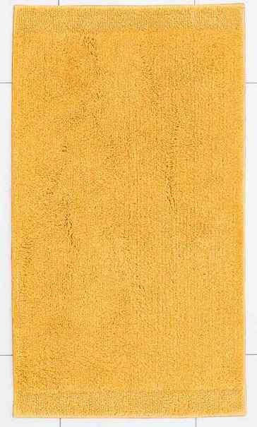 1 st badematte 70 x 130 gelb teppich matte badteppich vorleger baumwolle neu. Black Bedroom Furniture Sets. Home Design Ideas