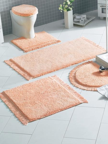 1 st badematte von heine 80 x 150 apricot badteppich vorleger mit, Badezimmer