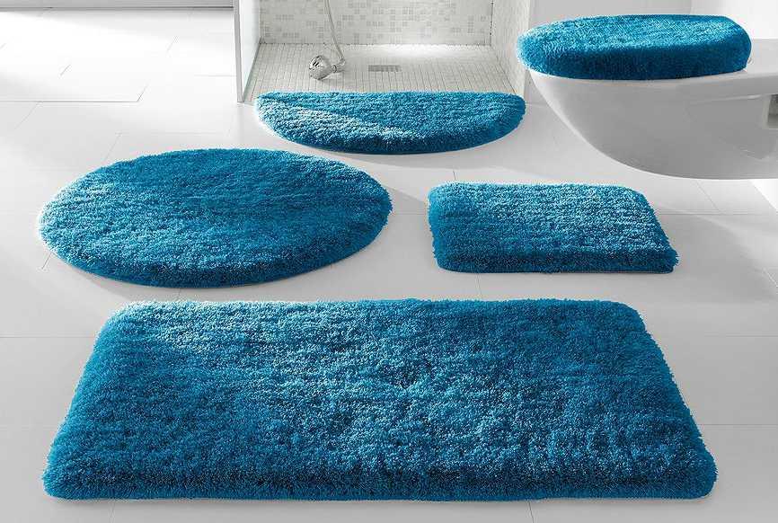 1 st rundmatte 80 t rkis matte rund badteppich teppich vorleger neu ebay. Black Bedroom Furniture Sets. Home Design Ideas