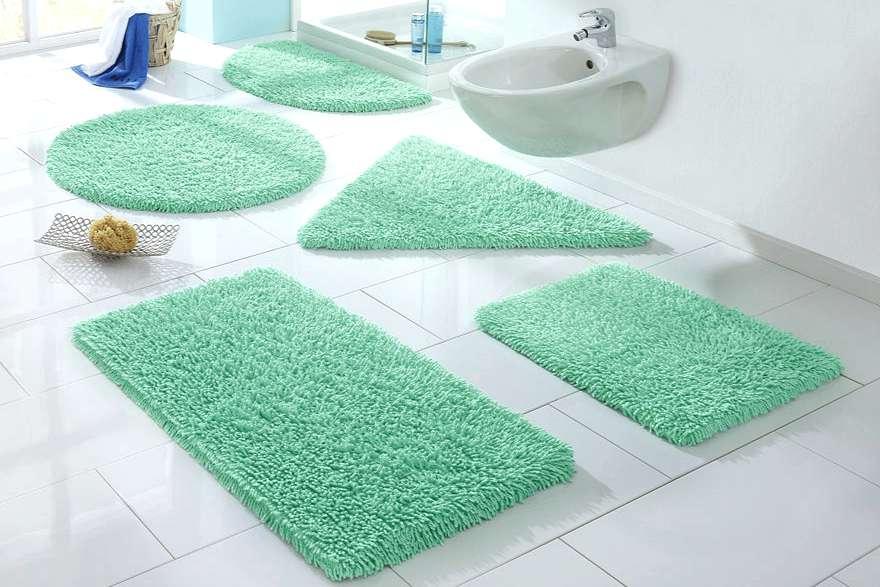 Grün Impressionen Badematte Vorleger Badteppich Badematte 60x60 Weiß
