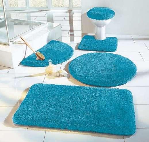 2 tlg wc garnitur 50x55 petrol blau h nge wc vorleger teppich deckel bezug neu ebay. Black Bedroom Furniture Sets. Home Design Ideas