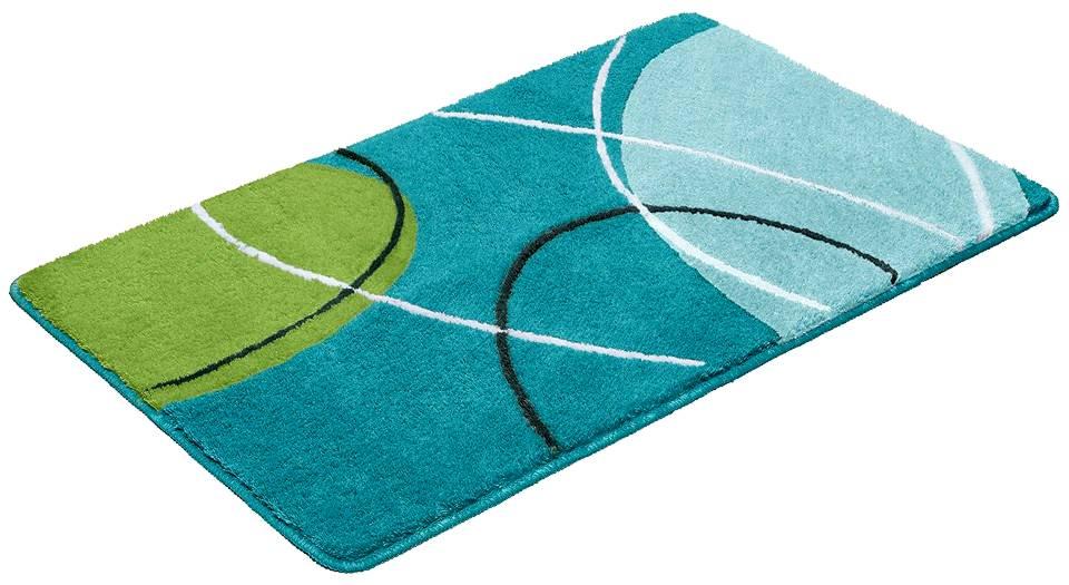 1 st badematte 70 x 110 blau gr n t rkis badteppich matte teppich vorleger neu ebay. Black Bedroom Furniture Sets. Home Design Ideas