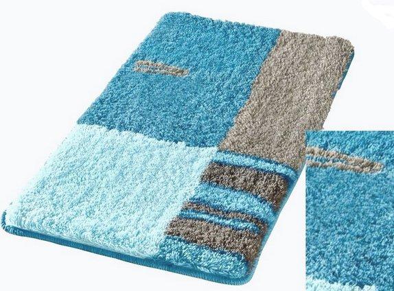 Schön 2 Tlg Badgarnitur 50 X 55 Blau TÜrkis Stand Wc Vorleger, Badezimmer