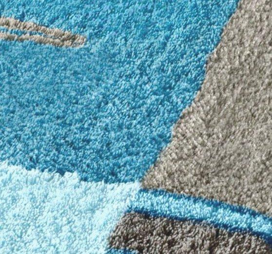1 st badematte 50 x 90 blau t rkis vorleger badteppich teppich matte neu ebay. Black Bedroom Furniture Sets. Home Design Ideas