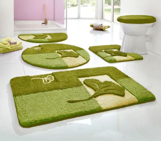2 tlg set badgarnitur grun 50 x 55 badematte stand wc. Black Bedroom Furniture Sets. Home Design Ideas