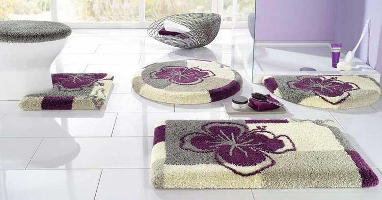 1 bath mat 90 x 160 silver purple kangaroos mat bathroom. Black Bedroom Furniture Sets. Home Design Ideas