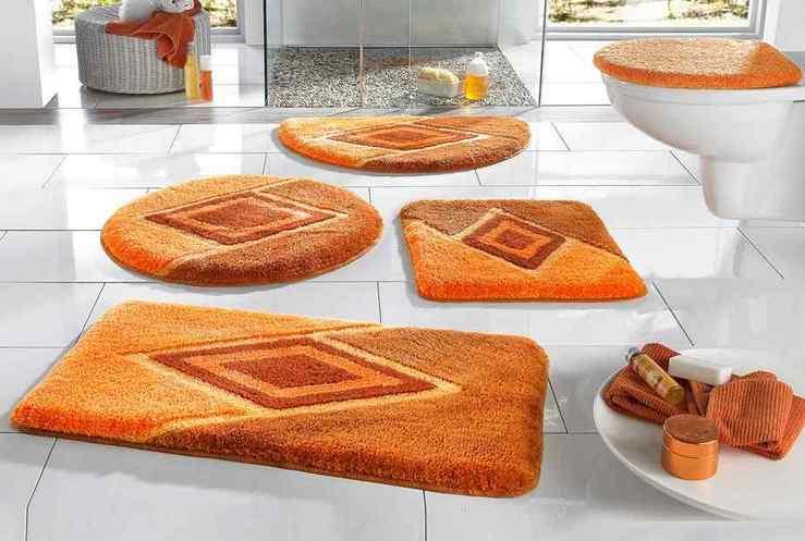 1 st badematte 50 x 55 terra orange matte h nge wc vorleger badteppich neu ebay. Black Bedroom Furniture Sets. Home Design Ideas