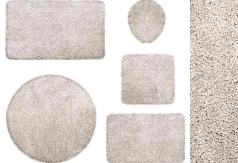 3 tl badgarnitur 60x100 silber grau by kinzler stand wc vorleger badematte neu ebay. Black Bedroom Furniture Sets. Home Design Ideas