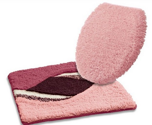 1 st h nge wc vorleger beere rosa badematte matte teppich neu ebay. Black Bedroom Furniture Sets. Home Design Ideas