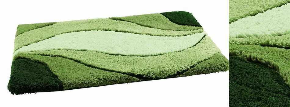 1 st rundteppich von vossen 80 gr n badematte rund. Black Bedroom Furniture Sets. Home Design Ideas