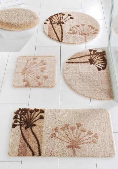 1 st stand wc vorleger 45 x 50 beige braun mit ausschnitt teppich matte neu ebay. Black Bedroom Furniture Sets. Home Design Ideas