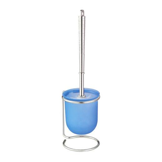 wc garnitur wei blau wenko kunststoff chrom b rstengarnitur wc b rste neu ebay. Black Bedroom Furniture Sets. Home Design Ideas