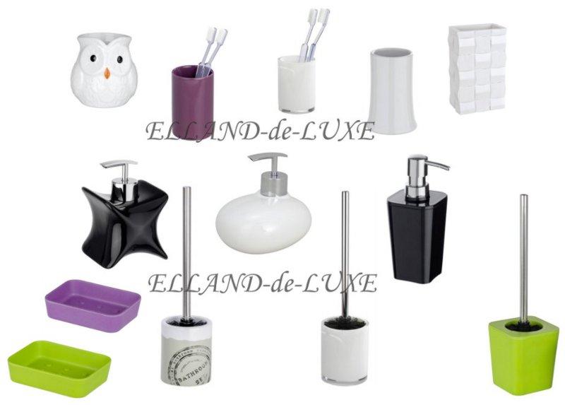 Wenko conjunto para wc vaso cepillo de dientes dispensador for Conjunto jabonera bano