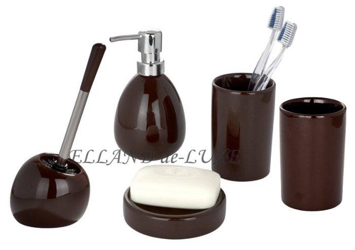 5 tlg set polaris brown braun wenko wc garnitur. Black Bedroom Furniture Sets. Home Design Ideas