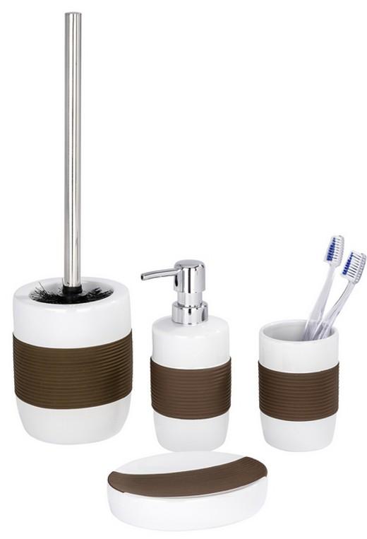3 piezas conjunto para wc dispensador de jab n jabonera for Conjunto jabonera bano