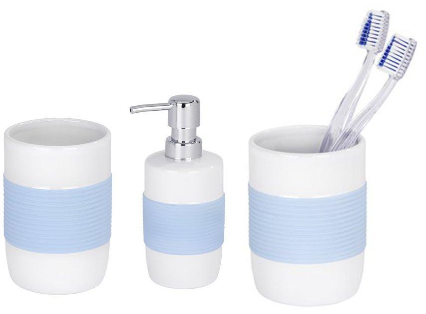 3 pezzi set ceramica distributore di sapone porta - Wenko accessori bagno ...