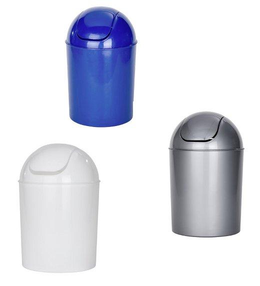 schwingdeckeleimer 5l wei blau grau kosmetikeimer m lleimer abfalleimer neu ebay. Black Bedroom Furniture Sets. Home Design Ideas