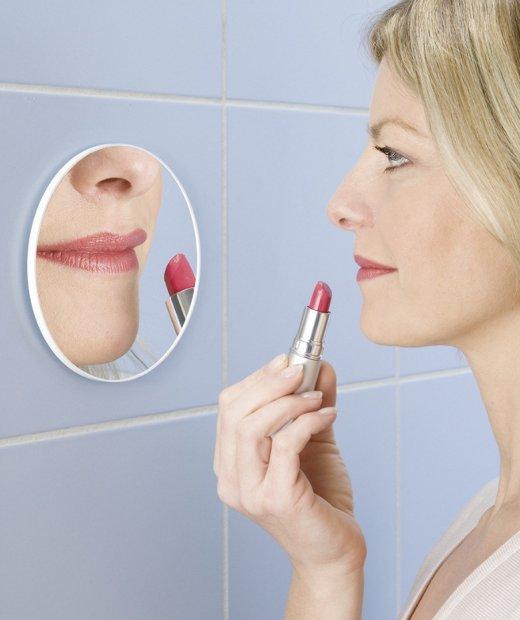 kosmetikspiegel 3 fach vergr erung 12 cm wenko selbstklebend bad spiegel neu ebay. Black Bedroom Furniture Sets. Home Design Ideas