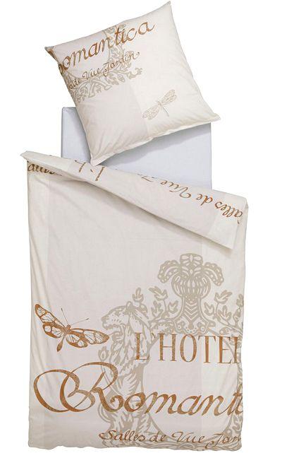 2 tlg renforce bettw sche 135 x 200 offwhite bettgarnitur schriftzug neu ebay. Black Bedroom Furniture Sets. Home Design Ideas