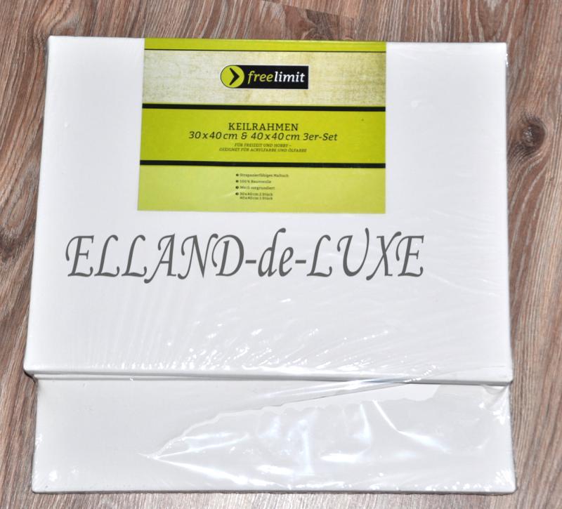 6 tlg set oder je 2 st leinwand 30x40 40x40 keilrahmen baumwolle grundiert neu ebay. Black Bedroom Furniture Sets. Home Design Ideas