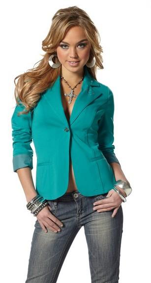 melrose stretch blazer jersey jacket gr 42 smaragd gr n damen kost m jacke neu ebay. Black Bedroom Furniture Sets. Home Design Ideas