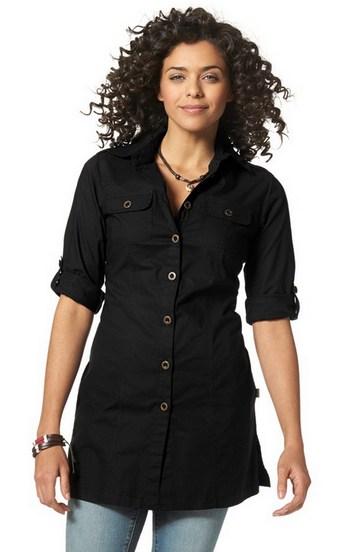 longbluse von boysen s gr 42 schwarz damen hemd bluse. Black Bedroom Furniture Sets. Home Design Ideas