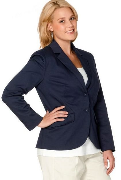 blazer gr 48 blau marine sheego von heine stretch anzugblazer jacke damen neu ebay. Black Bedroom Furniture Sets. Home Design Ideas
