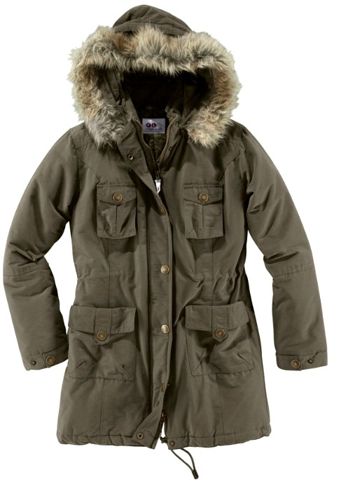 parka von flashlights flg gr 44 khaki jacke fell kapuze. Black Bedroom Furniture Sets. Home Design Ideas
