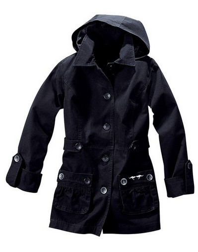 damen parka von kangaroos jacke gr 40 schwarz kapuze. Black Bedroom Furniture Sets. Home Design Ideas
