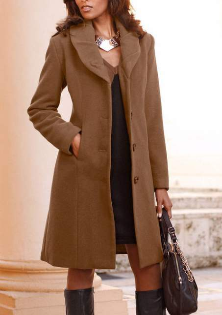 wool short coat size 42 cognac brown ladies coat jacket. Black Bedroom Furniture Sets. Home Design Ideas