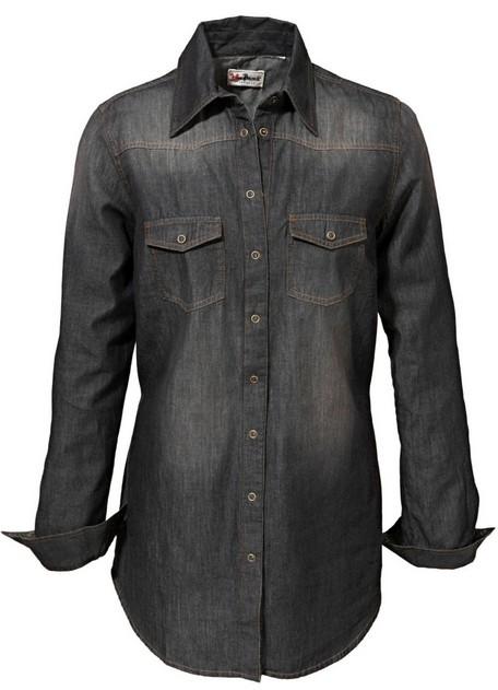 jeanshemd jeans hemd gr 42 black stone used schwarz damen neu ebay. Black Bedroom Furniture Sets. Home Design Ideas