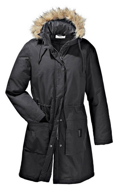 parka long jacke gr 52 anthrazit grau damen winter mantel fell kapuze ebay. Black Bedroom Furniture Sets. Home Design Ideas