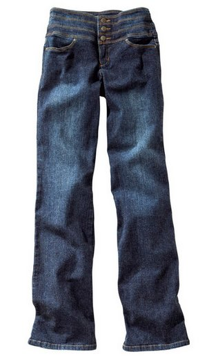 stretch jeans damen k gr 46 blau stone used boot cut bauch weg hose kurz ebay. Black Bedroom Furniture Sets. Home Design Ideas