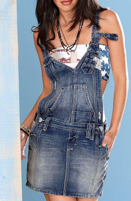Latzrock jeans damen