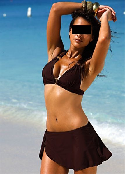 2 tlg set neckholder bikini pareorock rock gr 40 braun schoko bademode neu ebay. Black Bedroom Furniture Sets. Home Design Ideas