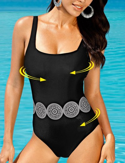 shape badeanzug gr 52 c d schwarz form effekt bauch weg damen beachwear neu ebay. Black Bedroom Furniture Sets. Home Design Ideas