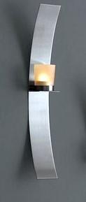 2 tlg set wandblaker silber kerzhalter edelstahl glas for Edelstahl dekoration