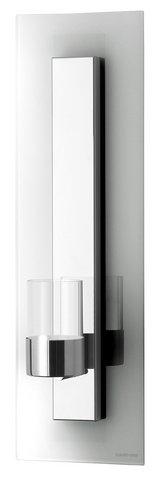 1st wandblaker glas kerzenhalter edelstahl wandplatte teelichthalter licht neu ebay - Wandkerzenhalter edelstahl ...