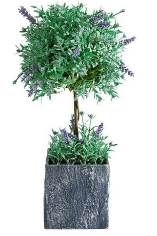 lavendel baum blume vase gr n kunstblume deko topf schale tischdeko neu ebay. Black Bedroom Furniture Sets. Home Design Ideas