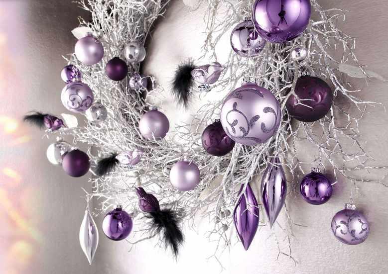 16 st set glas kugel lila weihnachten by r dentaler - Glas mit kugeln dekorieren ...