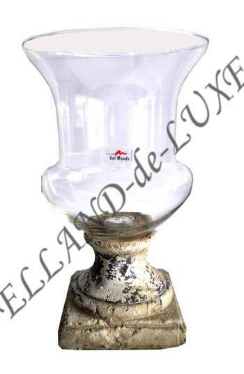 windlicht von garden la vida bel mondo glas keramik teelichthalter deko neu ebay. Black Bedroom Furniture Sets. Home Design Ideas