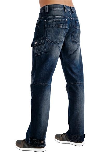 worker jeans cargo hose herren indigo blau gr 48 neu ebay. Black Bedroom Furniture Sets. Home Design Ideas