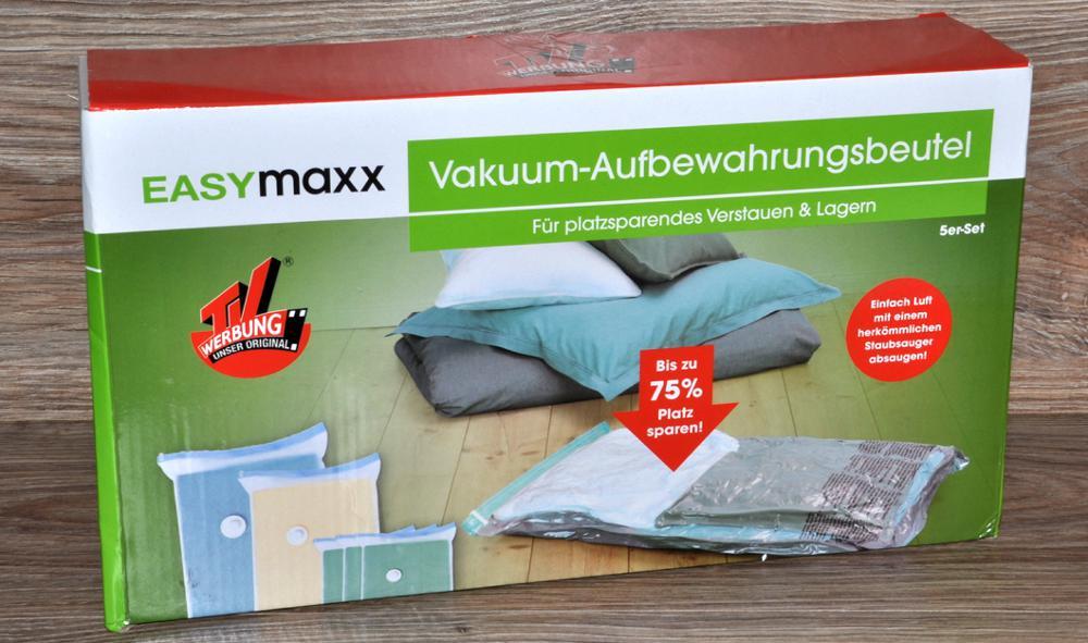 5 er set vakuum aufbewahrungsbeutel easymaxx von tv werbung kleiderbeutel neu ebay. Black Bedroom Furniture Sets. Home Design Ideas