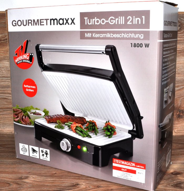 turbo grill by gourmetmaxx keramik plus 1800w f r fleisch fisch tischgrill neu ebay. Black Bedroom Furniture Sets. Home Design Ideas