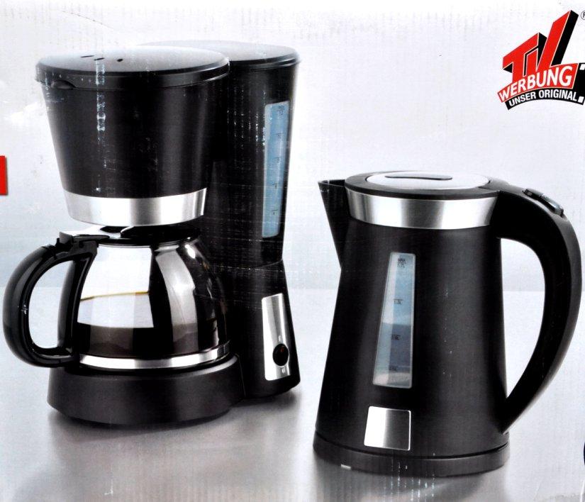 2 tlg set fr hst ckset kaffeemaschine 1000w wasserkocher 1. Black Bedroom Furniture Sets. Home Design Ideas