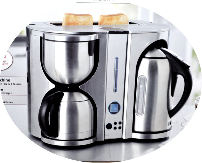 3 in 1 fr hst ckscenter kaffeemaschine wasserkocher toaster by gourmetmaxx neu ebay. Black Bedroom Furniture Sets. Home Design Ideas