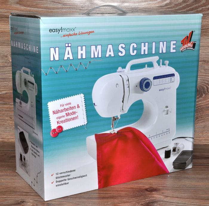 NÄHMASCHINE + 12 STICHMUSTER by EASY!MAXX KNOPF-ANNÄHAUTOMAT mit ...