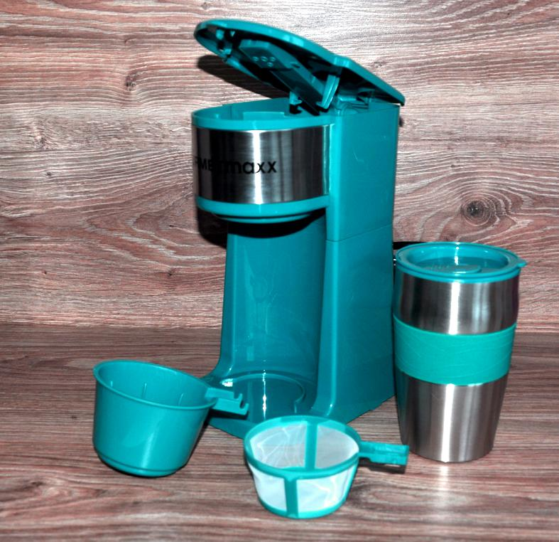 filterkaffeemaschine kaffeemaschine 450ml thermobecher to go by gourmetmaxx neu ebay. Black Bedroom Furniture Sets. Home Design Ideas